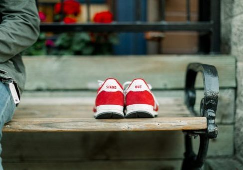 red-shoes-on-bench